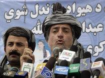 The former foreign minister Abdullah Abdullah during an election rally (photo: AP)