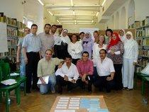 The participants and organisers of the publishing workshop at Cairo's Goethe Institut (photo: Axel von Ernst)