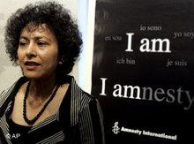 Irene Khan during a press conference in Rome (photo: AP)