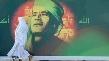 Gaddafi poster in Tripolis (photo: picture alliance)