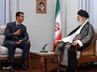 Bashar Assad and Ayatollah Ali Khamenei (photo: AP)