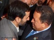 Mahmoud Ahmadinejad and Hugo Chávez (photo: dpa)