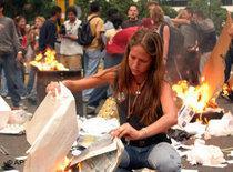 Anti-Chávez demontration in Venezuela (photo: AP)