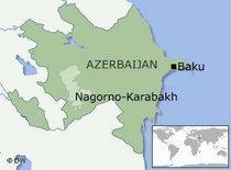 Map of Nagorno-Karabakh (photo: DW)