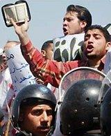 Supporters of the Muslim Brotherhood in Cairo (photo: AP)