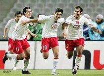 From left to right: Akin Ibrahim, Nuri Sahin and Hamit Altintop (photo: AP)