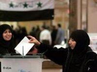 A veiled Girl at the ballot box in Baghdad, Iraq (photo: dpa)