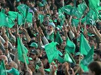 Palestinian Hamas supporters chant slogans during a speech by Palestinian Prime Minister Ismail Haniye in Gaza City, in 2006 (photo: AP)