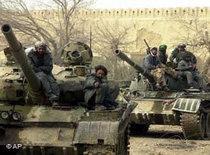 Soldiers of the Northern Alliance in Kunduz (photo: AP)
