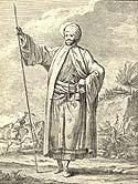 Carsten Niebuhr in traditional Arabian garb; historic drawing (photo: www.helsbib.dk)