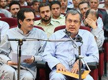 Defendant Said Hajjarian makes a statement in the Revolutionary Court in Tehran (photo: AP)