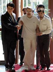 Said Hajjarian has difficulty walking (photo: AP)