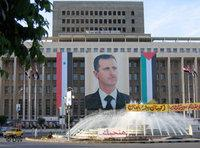 A poster of President Assad in Damascus city centre (photo: Kristin Helberg/DW)