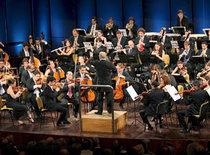 The West-Eastern Divan Orchestra during the concert in Ramallah (photo: dpa)