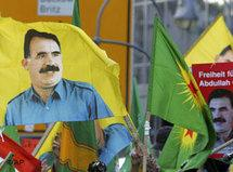 Kurdish demonstrators demonstrate after Europe top human rights court ruled that Kurdish rebel leader Abdullah Öcalan did not receive a fair trial in Turkey, Thursday May 12, 2005 in Strasbourg, France (photo: AP)