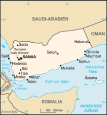 Map of Yemen (source: Wikipedia/CIA World Factbook)