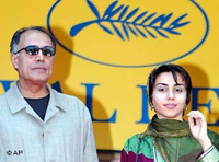 Abbas Kiarostami and Mania Akbari in Cannes (photo: AP)