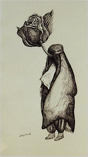 Caricature by Ardeshir Mohassess (photo: slowpainting.wordpress.com)