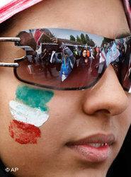Young Iranian woman in Tehran (photo: AP)