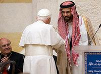 Pope Benedict XIV and Jordanian Prince Ghazi Bin Talal (photo: AP)