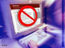 Symbolic image Internet censorship (photo: DW)