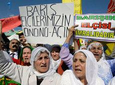PKK supporters demonstrating (photo: AP)