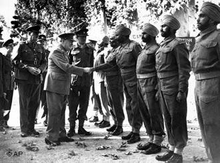 Winston Churchill and Indian troops in Tehran (photo: AP)