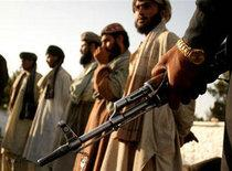 Captured Taliban fighters at the Afghan-Pakistani border (photo: AP)