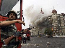 Terrorist attacks on the Taj Mahal Hotel in Mumbai, India (photo: AP)