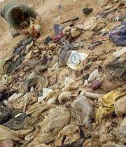 Victims' remains after an Anfal raid (photo: dpa)