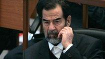 Saddam Hussein during his trial (photo: AP)
