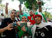 Friends of Football, celebrating in Algiers (photo: AP)