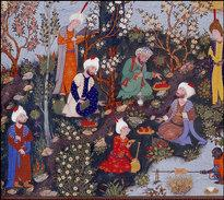 Arab miniature painting, 16th century (source: Wikipedia)
