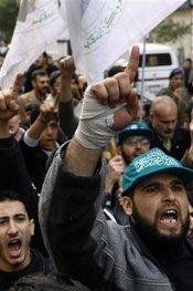 Islamist rally, Gaza Strip (photo: AP)