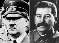 Adolf Hitler and Joseph Stalin (source: AP Graphics)
