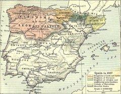 Map of Moorish Spain in 1037 (source: Courtesy of the University of Texas Libraries, The University of Texas at Austin)