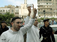 Islamist activists in Cairo, Egypt (photo: AP)