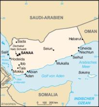 Map of Yemen (source: Wikipedia/CIA World Factbook)