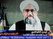 Videotape of Egyptian Ayman al-Zawahiri, right-hand man of Al Qaida mastermind Osama bin Laden, on Pakistani TV (photo: dpa)