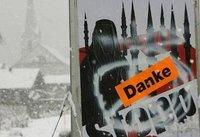 Anti-minaret campaign poster in Switzerland