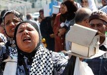 Palestinian refugees in Lebanon, protesting (photo: AP)