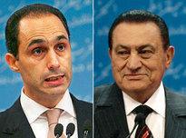 Gamal and Hosni Mubarak (photo: AP/DW)