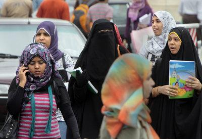 Veiled women in Cairo, Egypt (photo: AP)