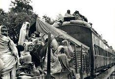Refugee train during the events of the Indian-Pakistani partition (source: Wikipedia)