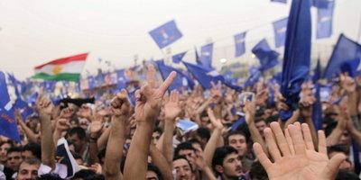 Kurdish rally in Kirkuk (photo: AP)