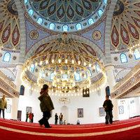 Interior of the Merkez Mosque in Duisberg, Germany (photo: AP)