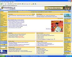 Screenshot Islam Online (source: www.islamonline.net)