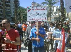 Demonstration in Beirut against religous influences in politics (photo: &copy Birgit Kaspar)