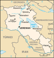 Map of Armenia and neighbouring countries (source: Wikipedia)