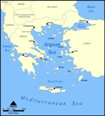 Map of the Aegean Sea (source: Wikipedia)